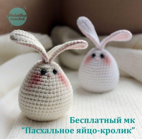 Бесплатное описание пасхальное яйцо - кролик