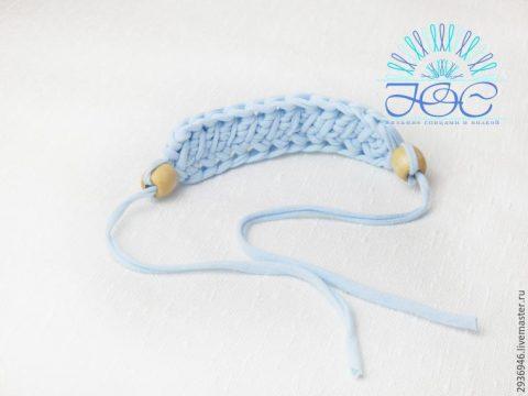 Вяжем украшение - браслет из трикотажной пряжи за 10 минут