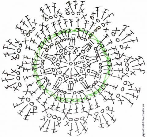 Схема вязания подставки для яйца: