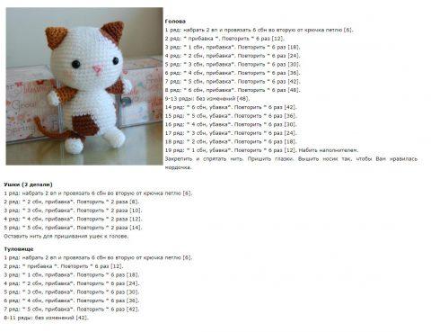 Схемы игрушки котенок