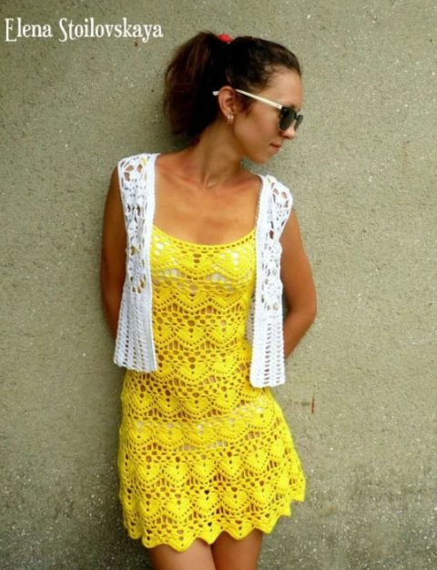 Летнее платье Солнечное