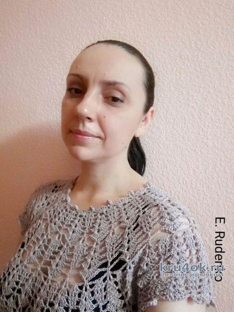 Ажурное платье Пыльная роза. Работа Евгении Руденко вязание и схемы вязания