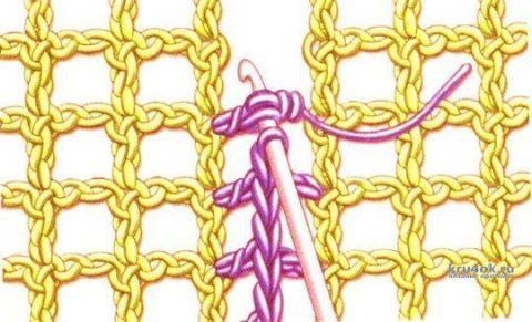 Кардиган, оверсайз связан филейной сеткой крючком вязание и схемы вязания