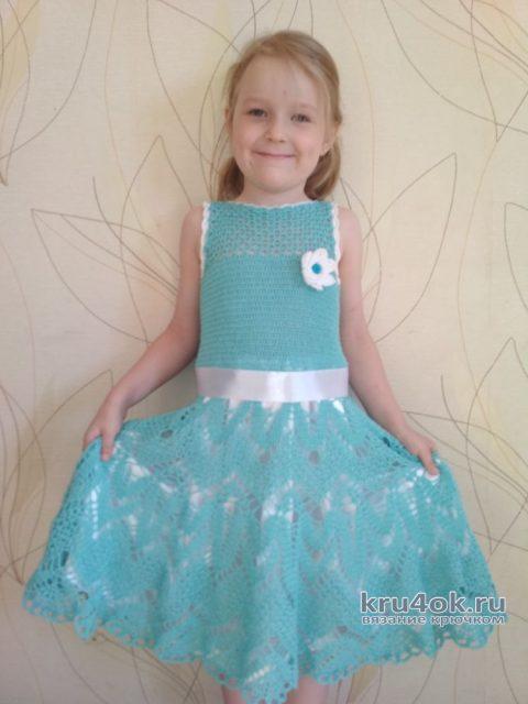 Нарядное платье для девочки. Работа Александры Миличенко