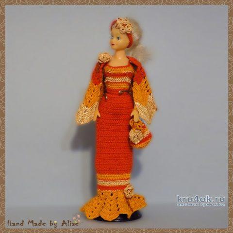 Платье для Барби мисс осень 2005. Работа Alise Crochet