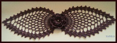 Вязанная ажурная салфетка крючком. Работа Анны вязание и схемы вязания