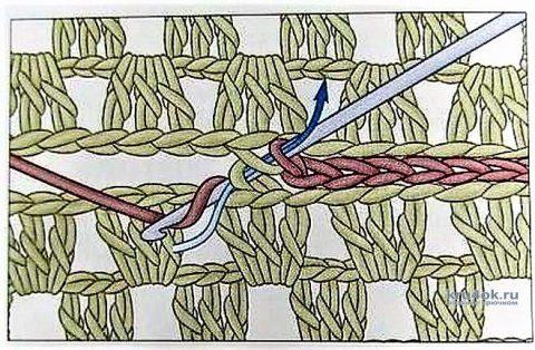Вязанный крючком чехол для стула. Работа Галмика вязание и схемы вязания