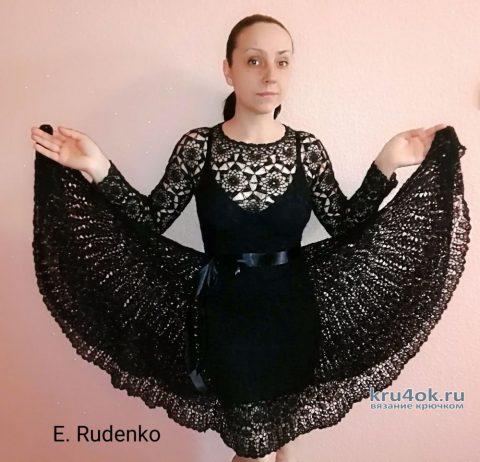 Вязаное платье Тёмная ночь. Работа Евгении Руденко