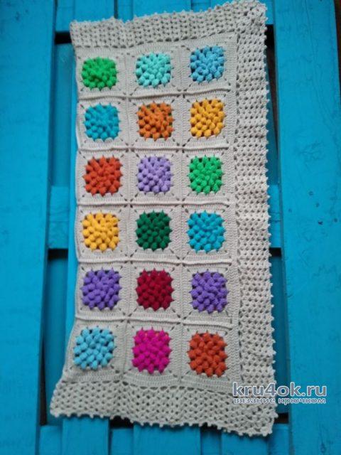 Вязаный детский плед. Работа Людмилы Ильичевой вязание и схемы вязания