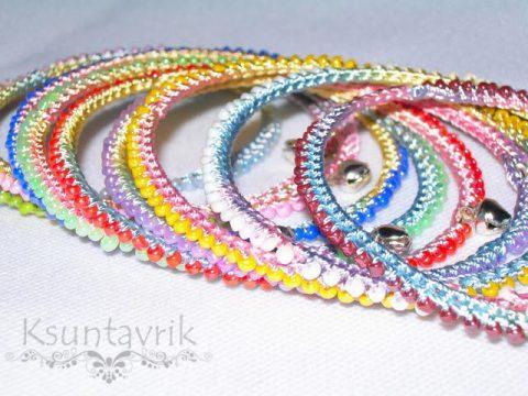 Мастер-класс Радужные браслеты - вязаное украшение