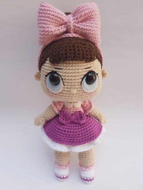 Вяжем куклу LOL крючком