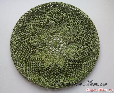 Оливковый берет, схема вязания
