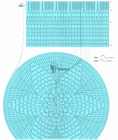 Схема берета из японского журнала