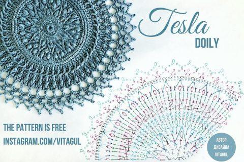 Схема и описание салфетки Tesla от Виктории Гуль