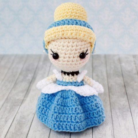 Кукла - золушка крючком, бесплатное описание