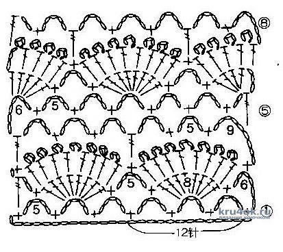 Ажурный комплект на выписку. Работа Светланы Чайка вязание и схемы вязания