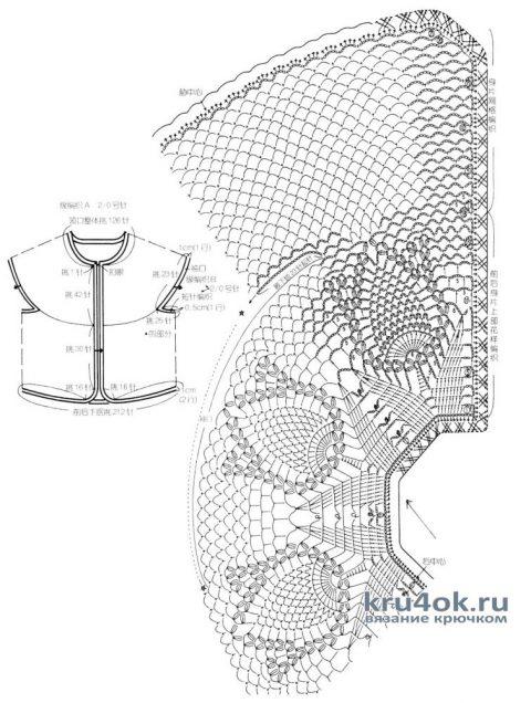 Летний комплект для девочки. Работа Александры Миличенко вязание и схемы вязания