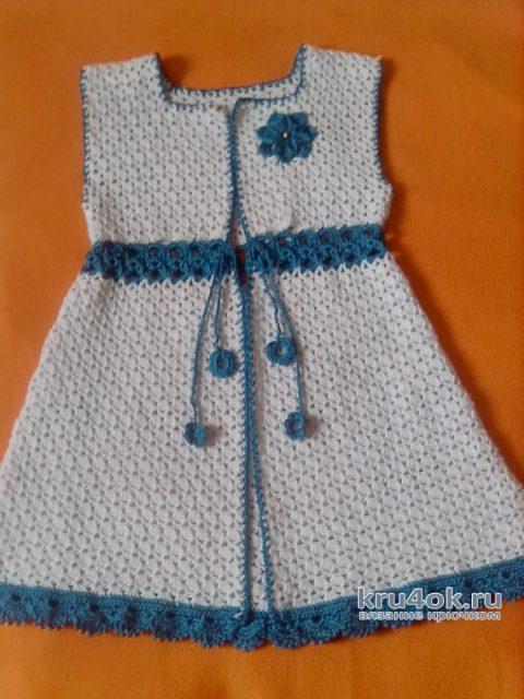 Платье для девочки Морозко. Работа Оксаны вязание и схемы вязания