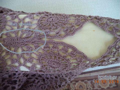 Пляжная туника крючком. Работа Анны вязание и схемы вязания