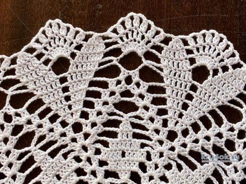Салфетка ажурная круглая. Работа Надежды Борисовой вязание и схемы вязания
