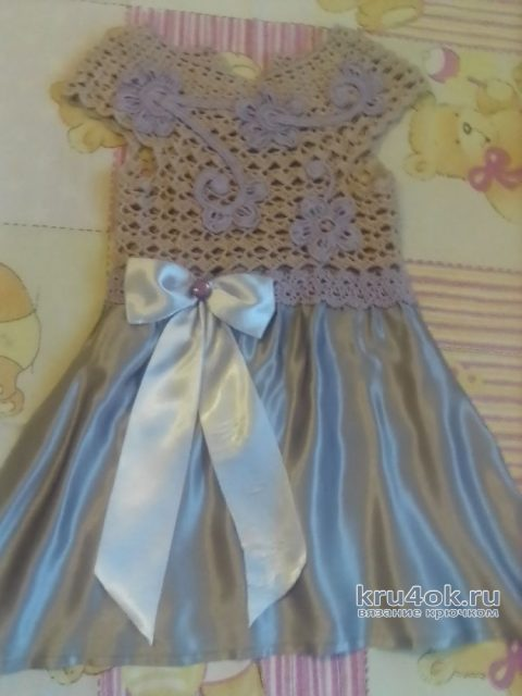 Вязаное платье для девочки 2-3 лет. Работа Оксаны