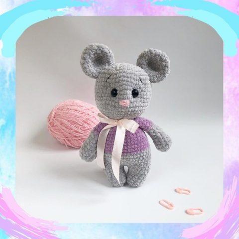 Плюшевая игрушка мышонок
