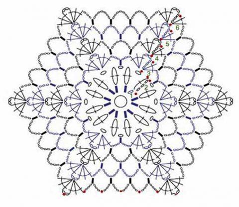 схема вязаного летнего берета