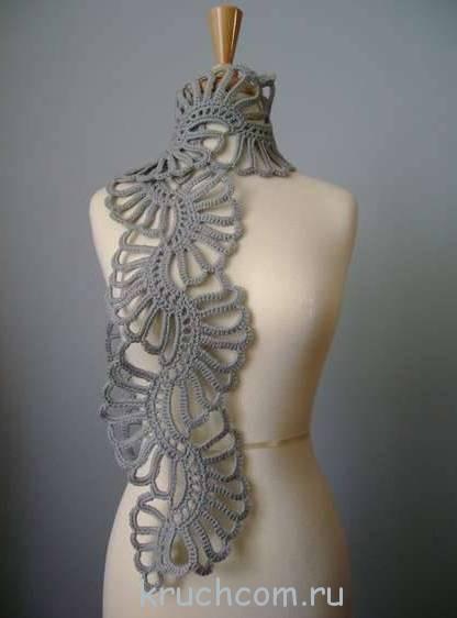 Схема элегантного шарфа