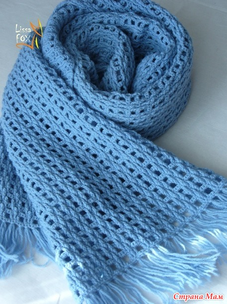"Схема мужского шарфа ""Мегаполис"" от Lissa Fox (LiFo)"