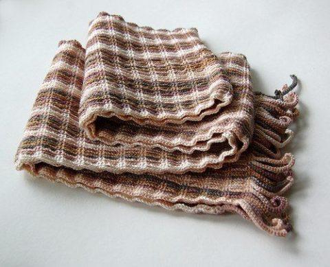 Очень интересная схема для шарфа