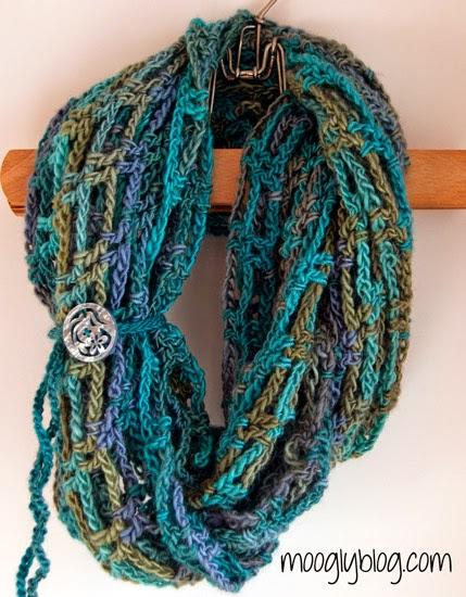 Простой шарф Бесконечность, схема вязания