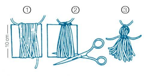 Как изготовить кисточки для Бохо колье