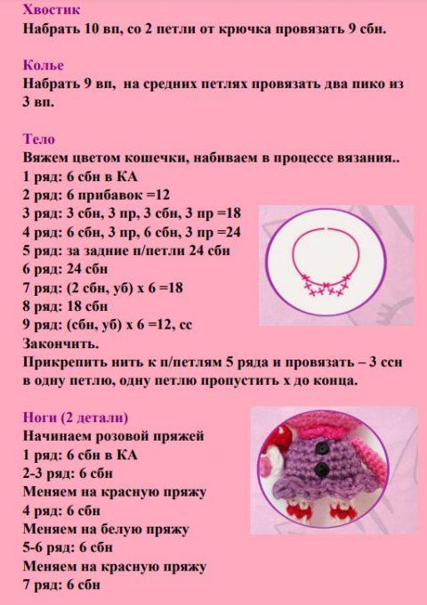 Кошечка - амигуруми, бесплатное описание