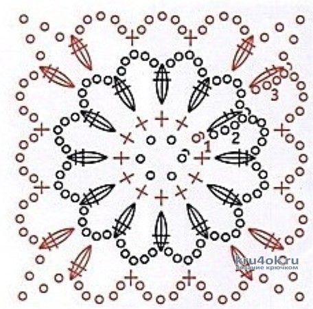 Ажурный топик крючком. Работа Елены вязание и схемы вязания