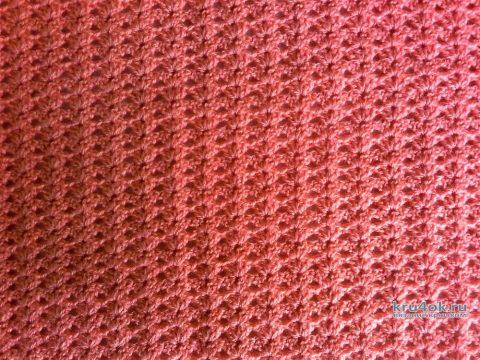 Детский плед Персик крючком. Работа Галмика вязание и схемы вязания