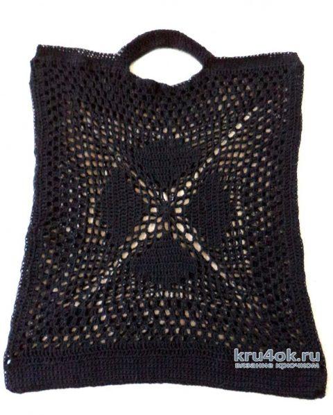 Две сумки - авоськи, связанные крючком. Работы Анны вязание и схемы вязания