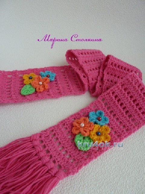 Схема самого простого шарфа
