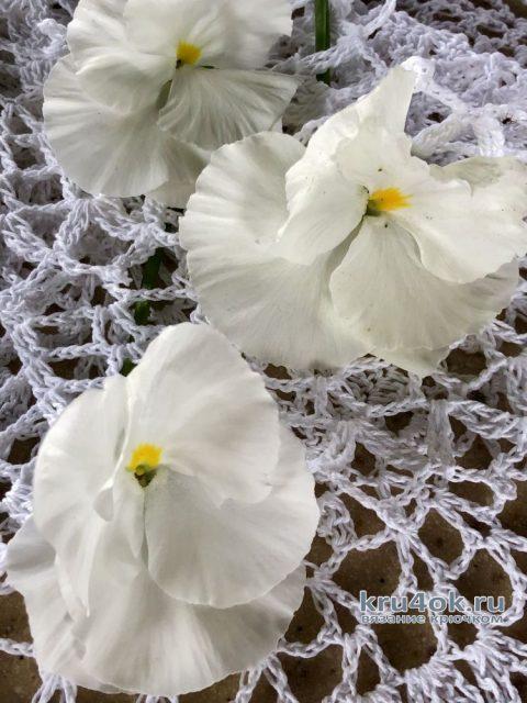 Красивая салфетка Ажур. Работа Надежды Борисовой вязание и схемы вязания