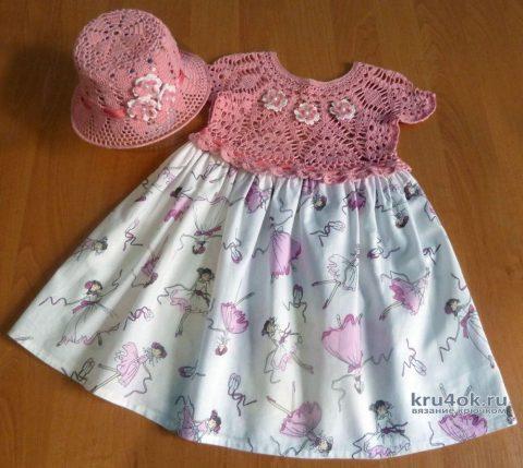Платье и панама для девочки. Работа Натани