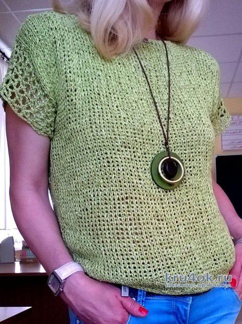 Топ связанный тунисским крючком. Работа Елены Шевчук вязание и схемы вязания