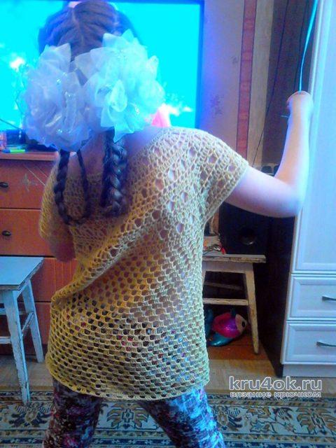 Вязаная кофточка для девочки. Работа Ирины Степиной вязание и схемы вязания