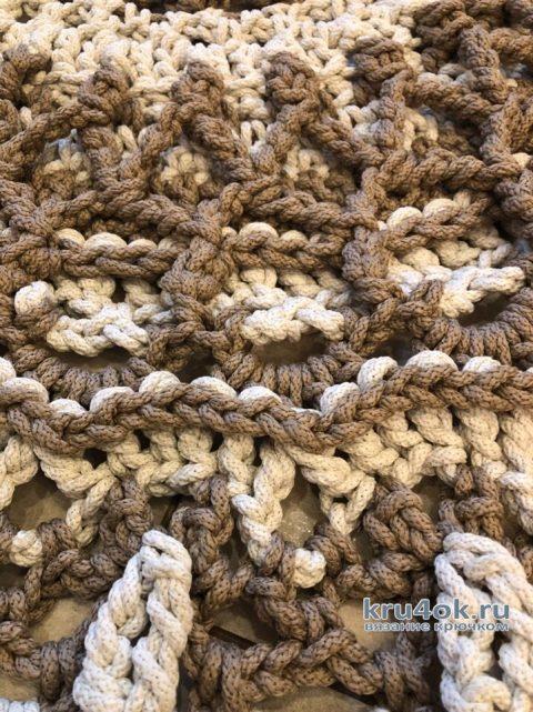 Вязаный ковер из полиэфирного шнура. Работа Любови Кульминской вязание и схемы вязания