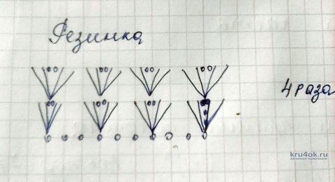 Вязаный купальник для девочки. Работа Оксаны вязание и схемы вязания