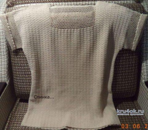 Вяжем летний джемпер 50-52 размера. Работа Анны вязание и схемы вязания