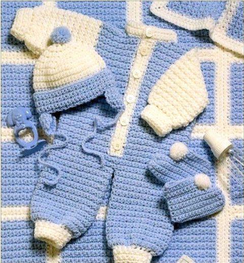 Комбинезон для новорожденного крючком