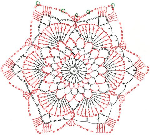 Схема вязания и сборки кофточки