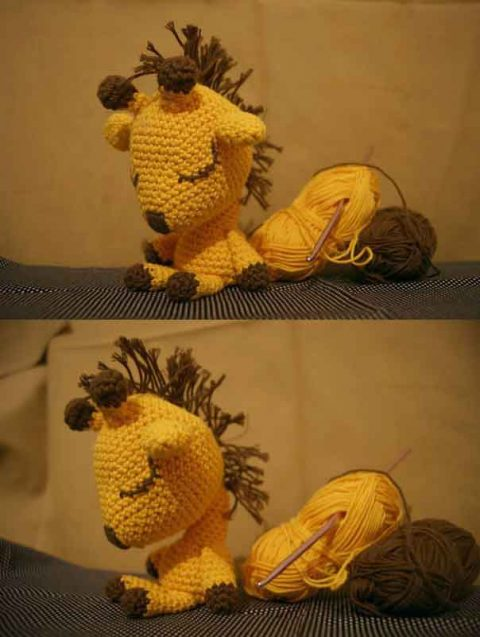 Амигуруми жираф сплюшка крючком