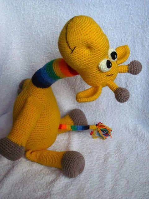Мастер - класс Радужный жираф крючком