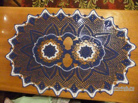 Овальная салфетка крючком. Работа Маргариты вязание и схемы вязания
