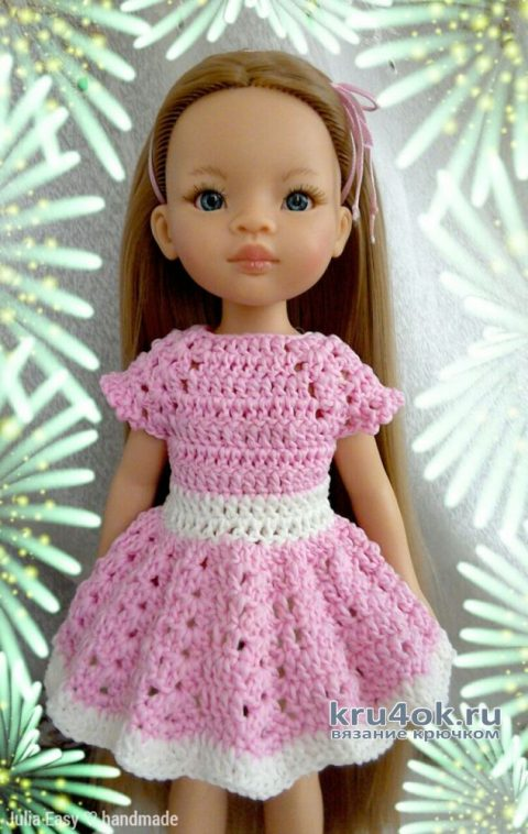 Платье SISSY для куклы Paola Reina. Работа Julia Easy вязание и схемы вязания